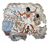 Fragment of wall painting from the tomb of NebamunFragment Of A Wall Painting From The Tomb Of Nebamun